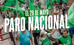 29 de mayo: PARO NACIONAL